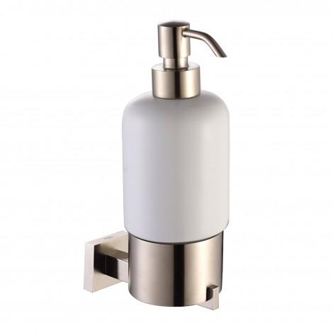 KRAUS Aura Bathroom Accessories - Wall-mounted Ceramic Lotion Dispenser