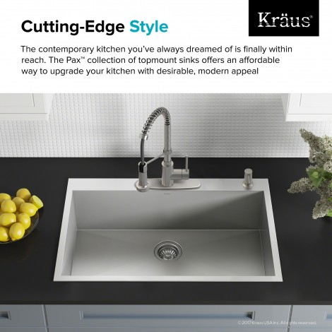 KP1TS33S-4 Кухонная мойка серии Pax