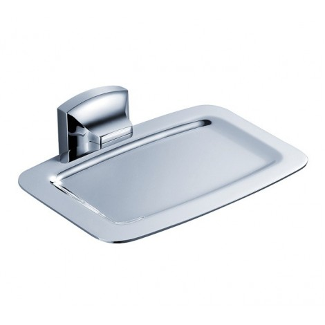 Discontinued-Fortis Bathroom Accessories - Wall-mounted Brass Soap Dish