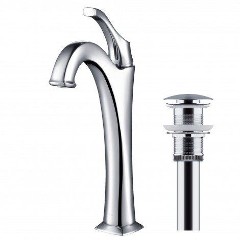 KRAUS Arlo™ Single Handle Vessel Bathroom Faucet with Pop Up Drain