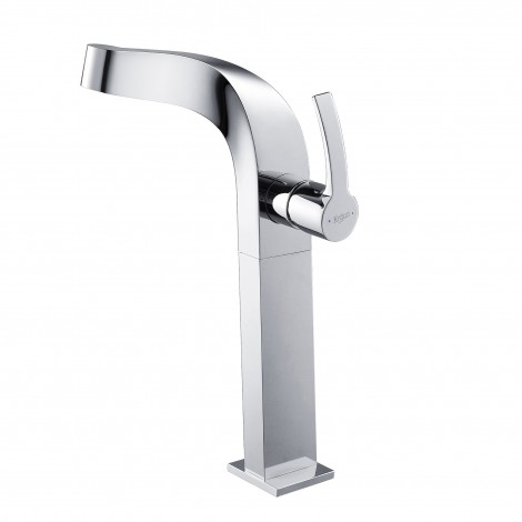 Discontinued - KRAUS Typhon Single Hole Single-Handle Vessel Bathroom Faucet in Chrome