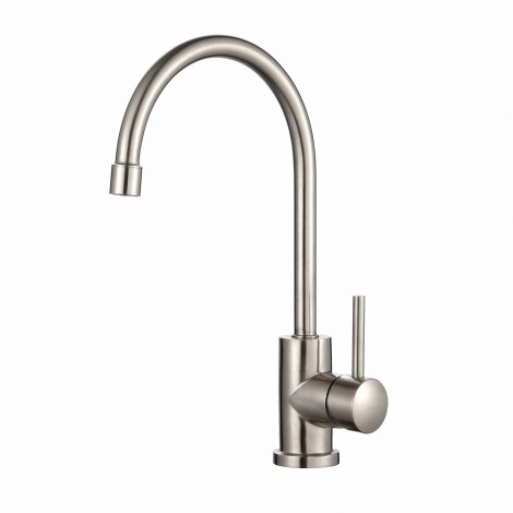 Discontinued - KRAUS Single-Handle Solid Stainless Steel Kitchen Bar Faucet