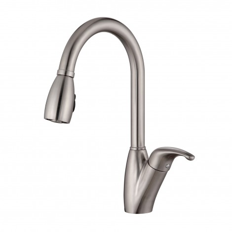 Discontinued-Single Lever Stainless Steel Pull Out Kitchen Faucet