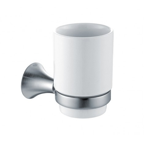 Discontinued-Amnis Bathroom Accessories - Wall-mounted Ceramic Tumbler Holder