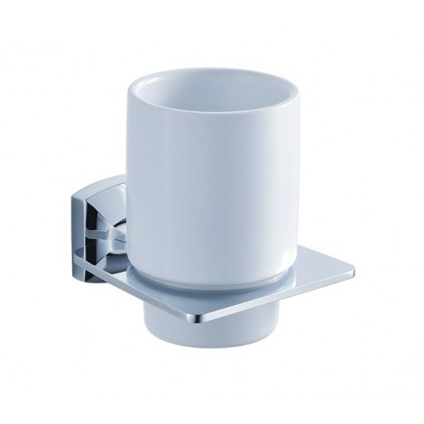 Discontinued-Fortis Bathroom Accessories - Wall-mounted Ceramic Tumbler Holder