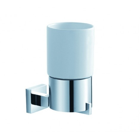 Disontinued - KRAUS Aura Bathroom Accessories - Wall-mounted Ceramic Tumbler Holder