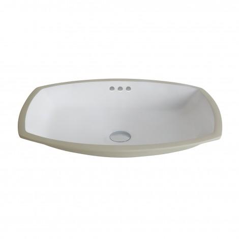 KRAUS Elavo™Flared Rectangular Ceramic Undermount Bathroom Sink in White with Overflow