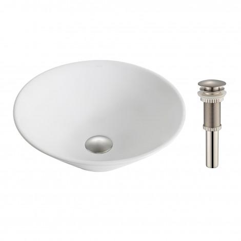 Disontinued - KRAUS Elavo™ White Ceramic Round Vessel Bathroom Sink